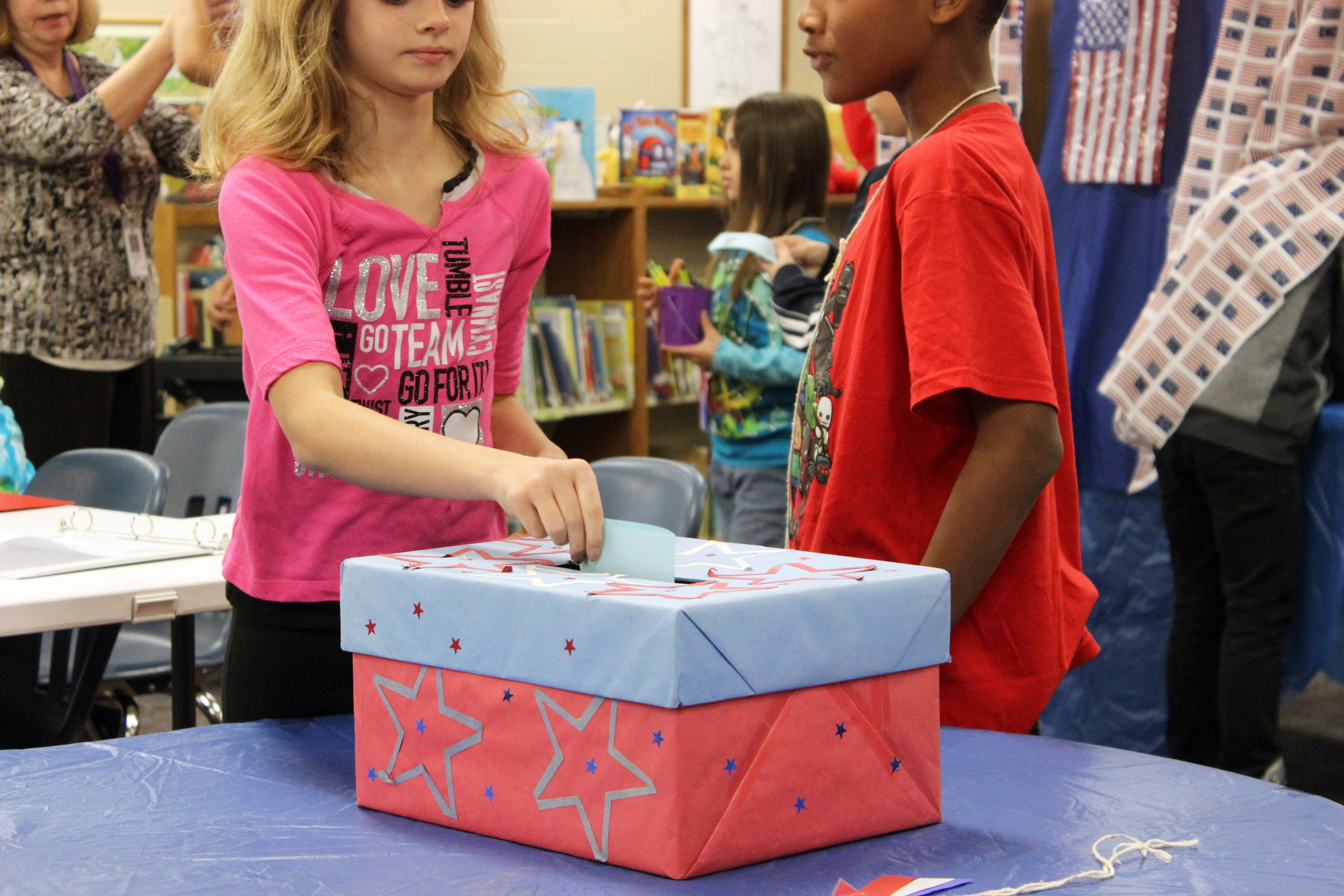 Elementary Students Vote in Mock Election