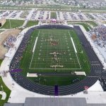 Aerial shot of Dragon stadium, located at 6500 NW 100th St., Johnston