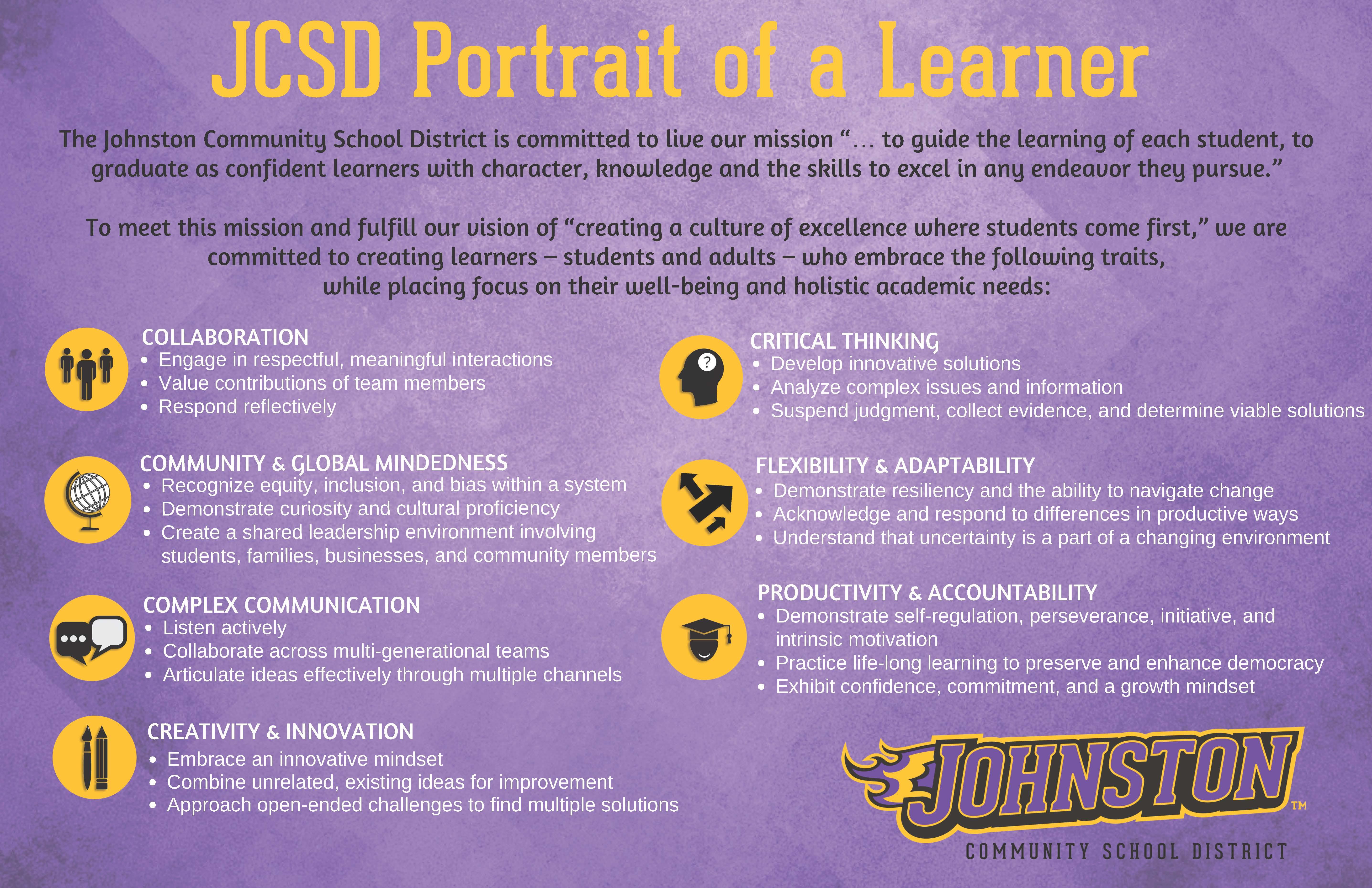 JCSD Portrait of a Learner