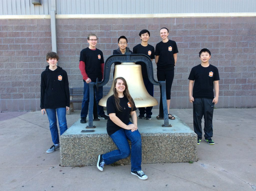 Members of the JHS math team at the Nov. 5 competition