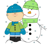 Link to Paint and Make a Snowman game