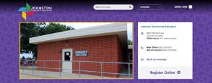 screen shot of the new Johnston community education website
