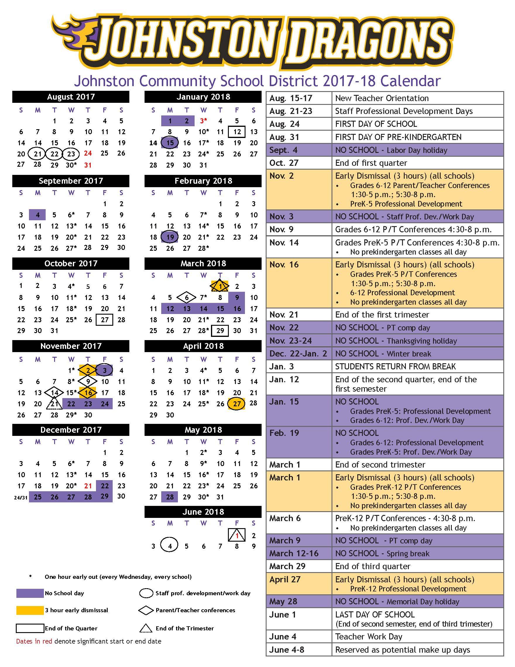 academic calendar 2017 2017