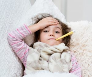 Photo of a little girl who is sick