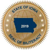 Graphic of the Iowa Seal of Biliteracy