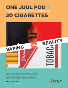 Anti-vaping poster
